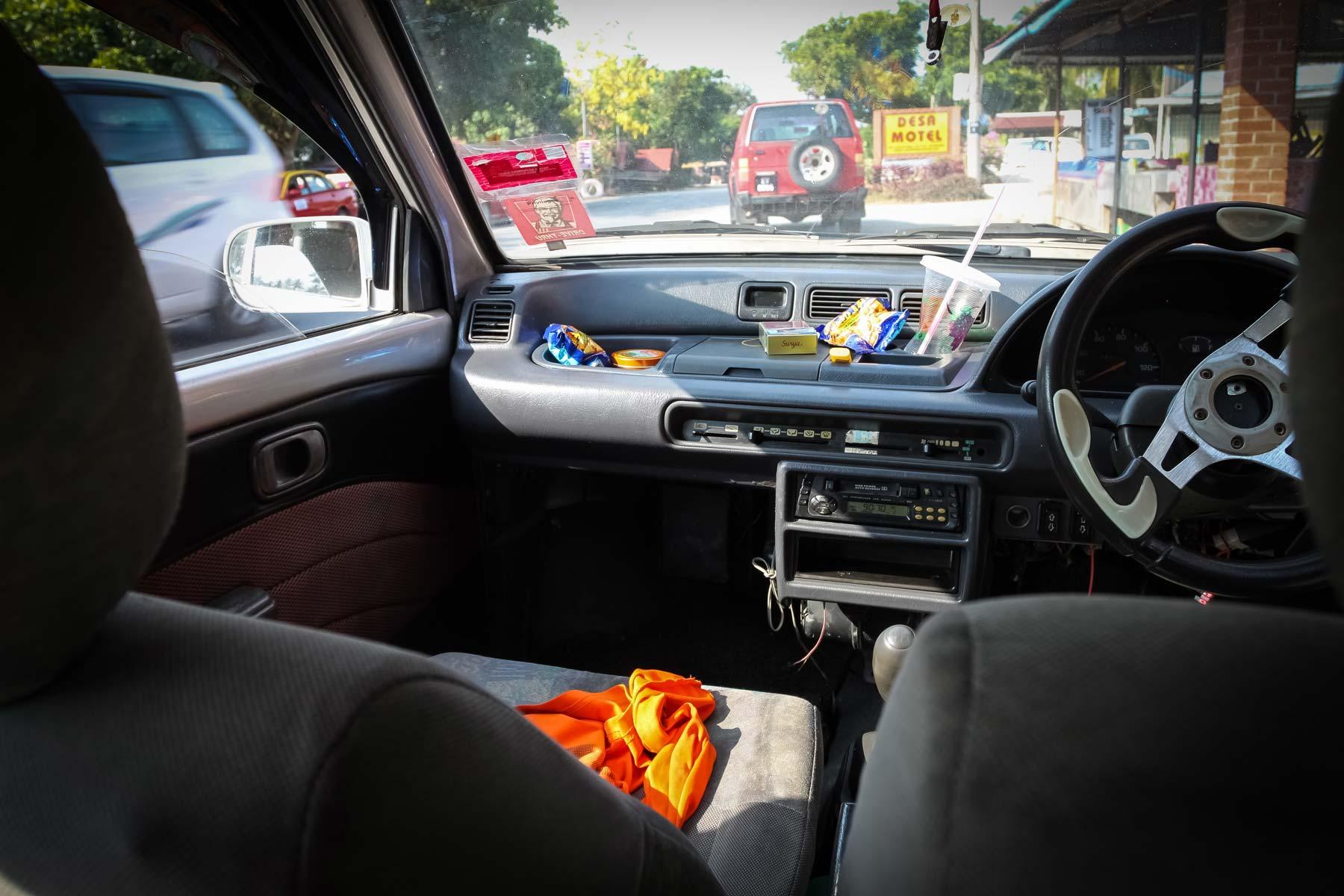 Салон водителя экскурсионной конторы