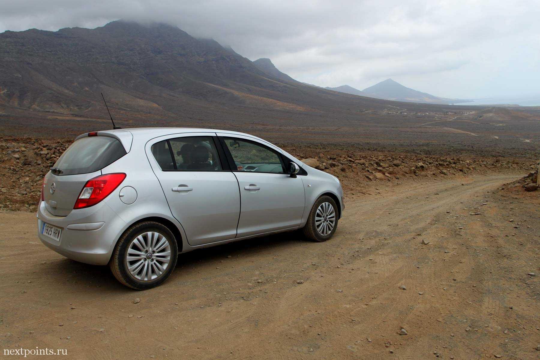 Opel Corsa на Фуэртевентуре
