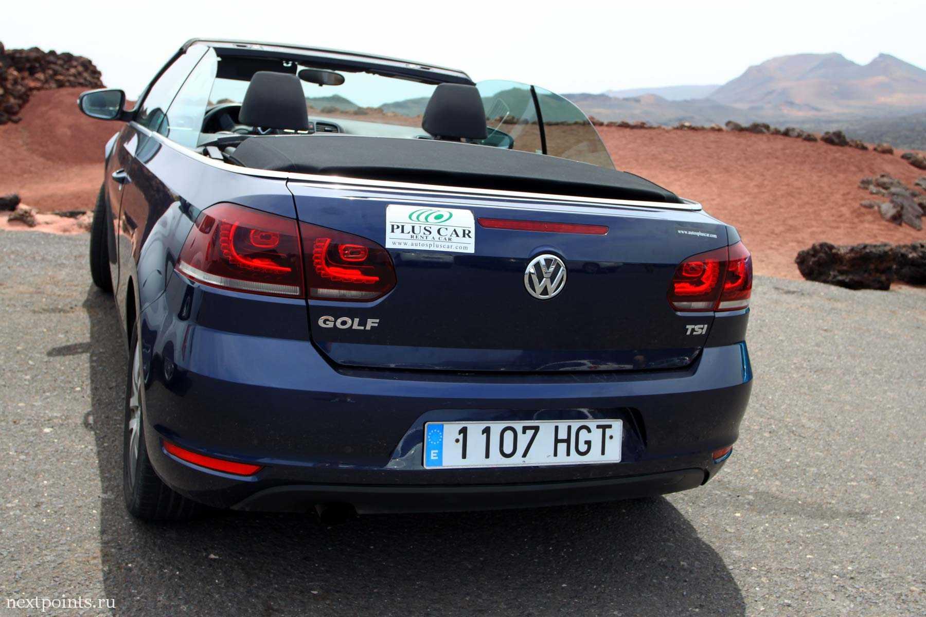 Volvo на Лансароте. Парковка Национального парка Timanfaya. Plus Car.