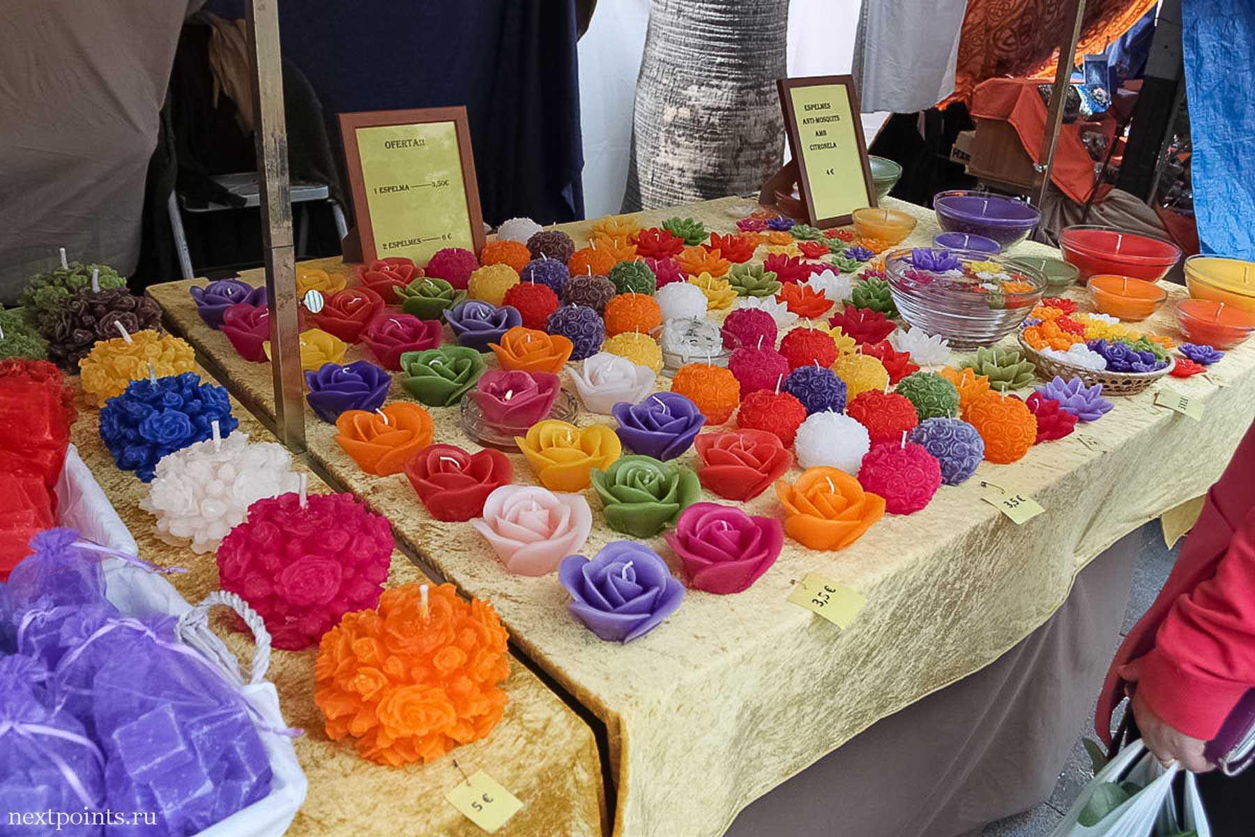Мыльные цветы на ярмарке в Кастельдефельсе