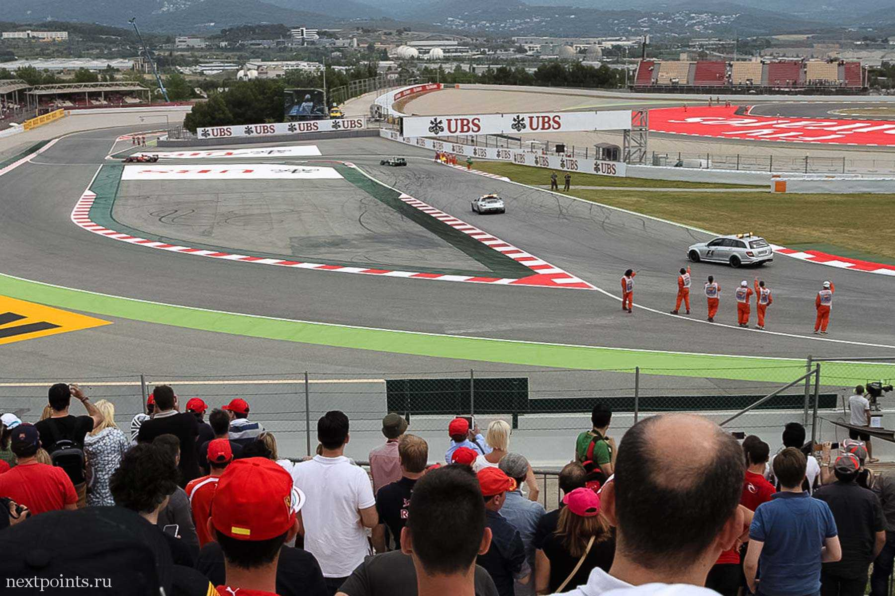 Трибуна H на гоночной трассе в Испании