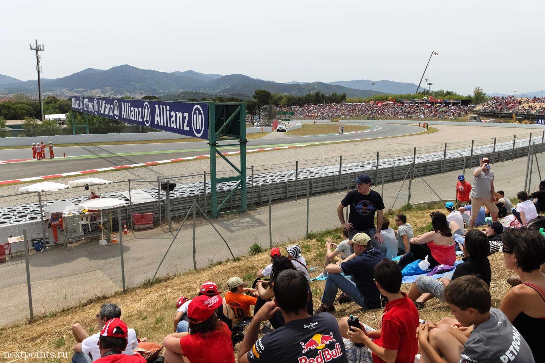 """""""Места под солнцем» на General Admission на трассе Формулы 1 в Испании"""