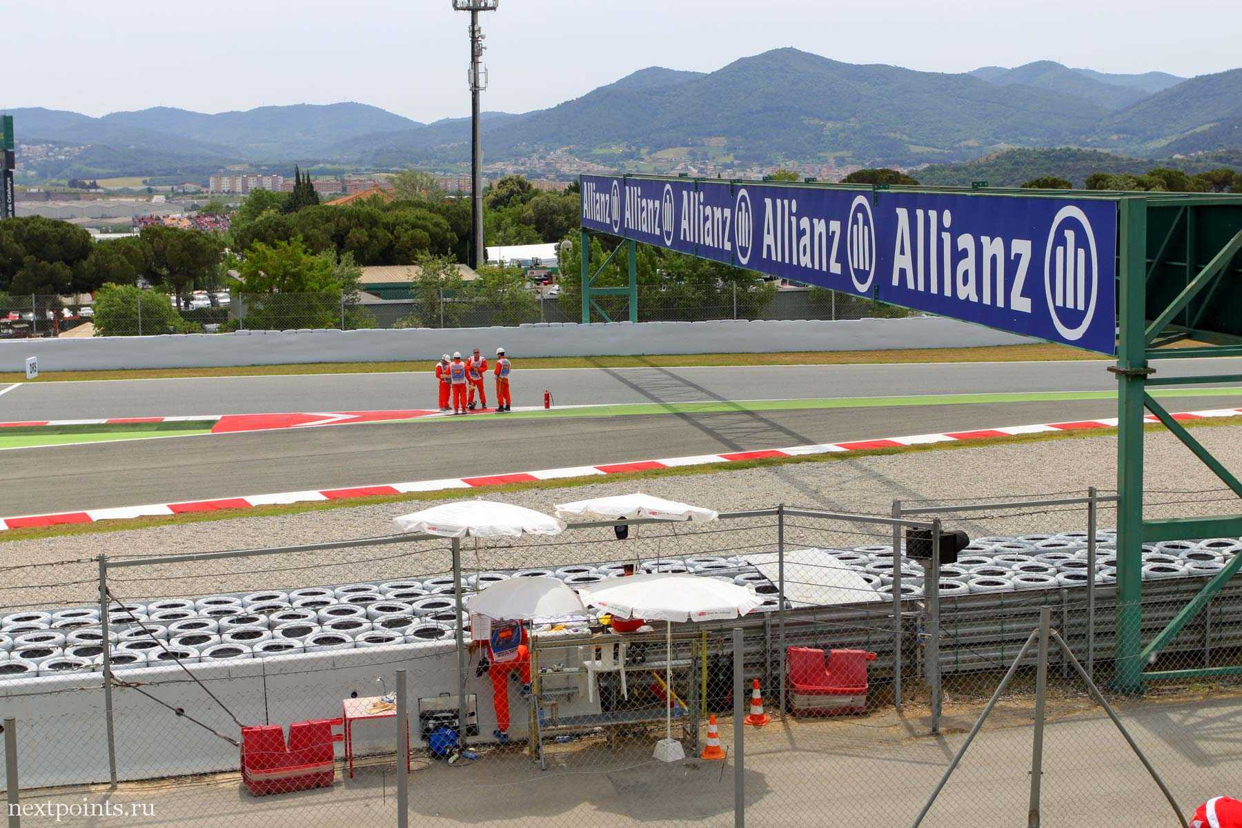 Вид с General Admission на трассу Формулы 1 в Испании