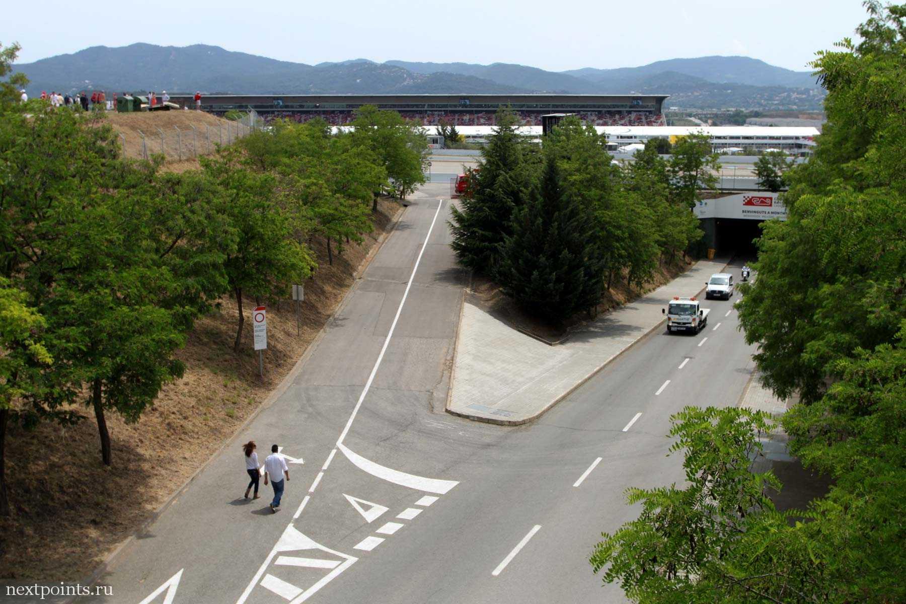 Внутритрековые дороги трассы Формулы 1 в Испании