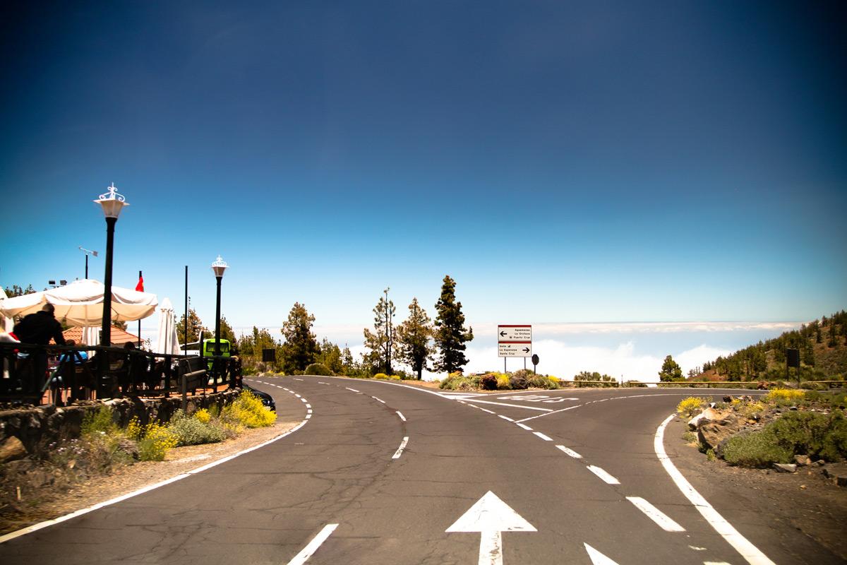 Разметка дороги на Тенерифе