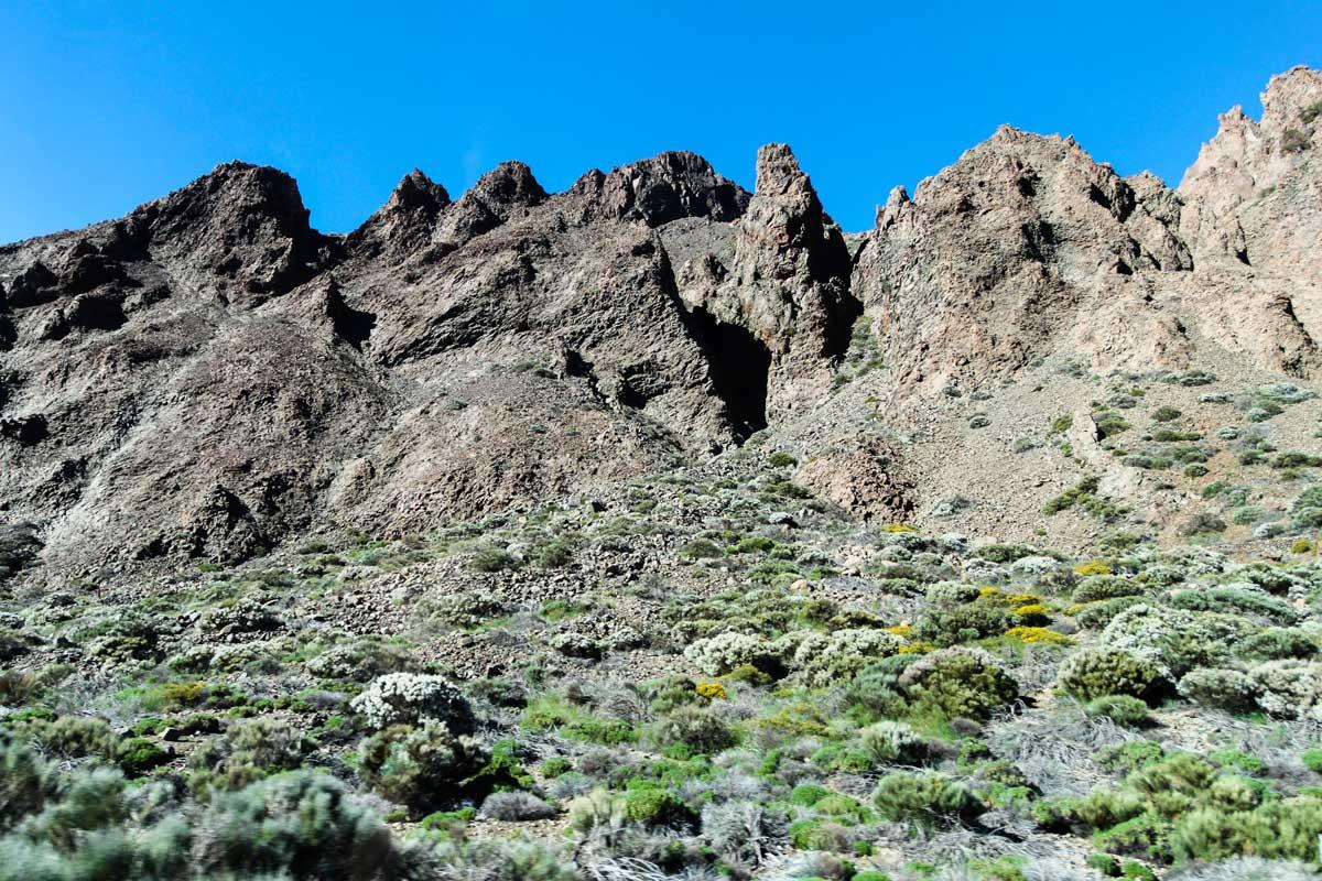 Марсианские виды национального парка Тейде