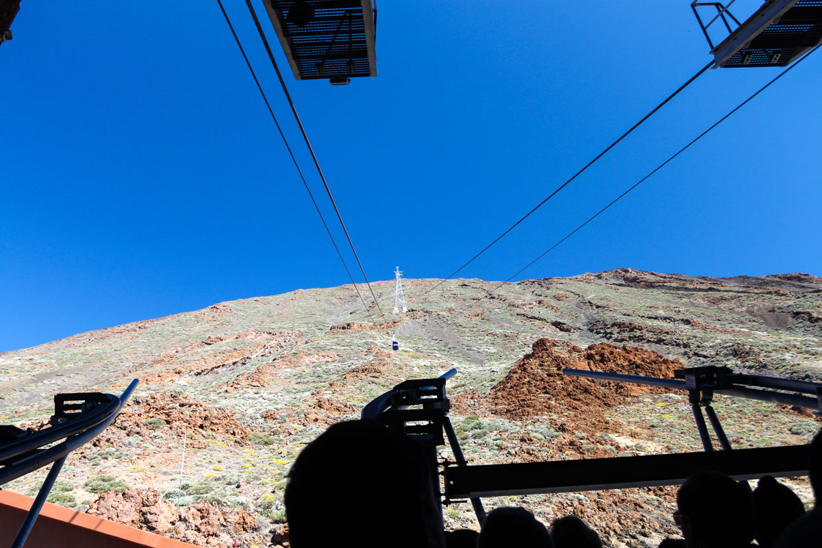Маршрут фуникулера по вулкану Тейде
