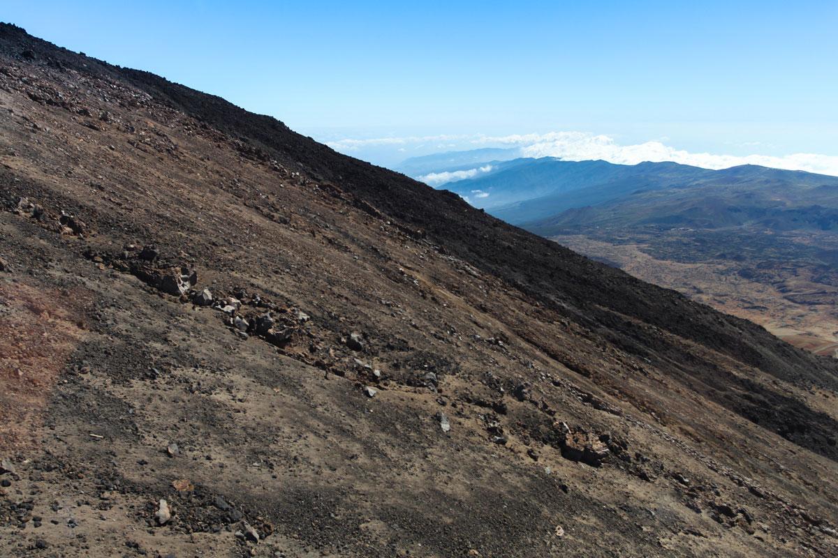 Поверхность вулкана Тейде - вид из фуникулера
