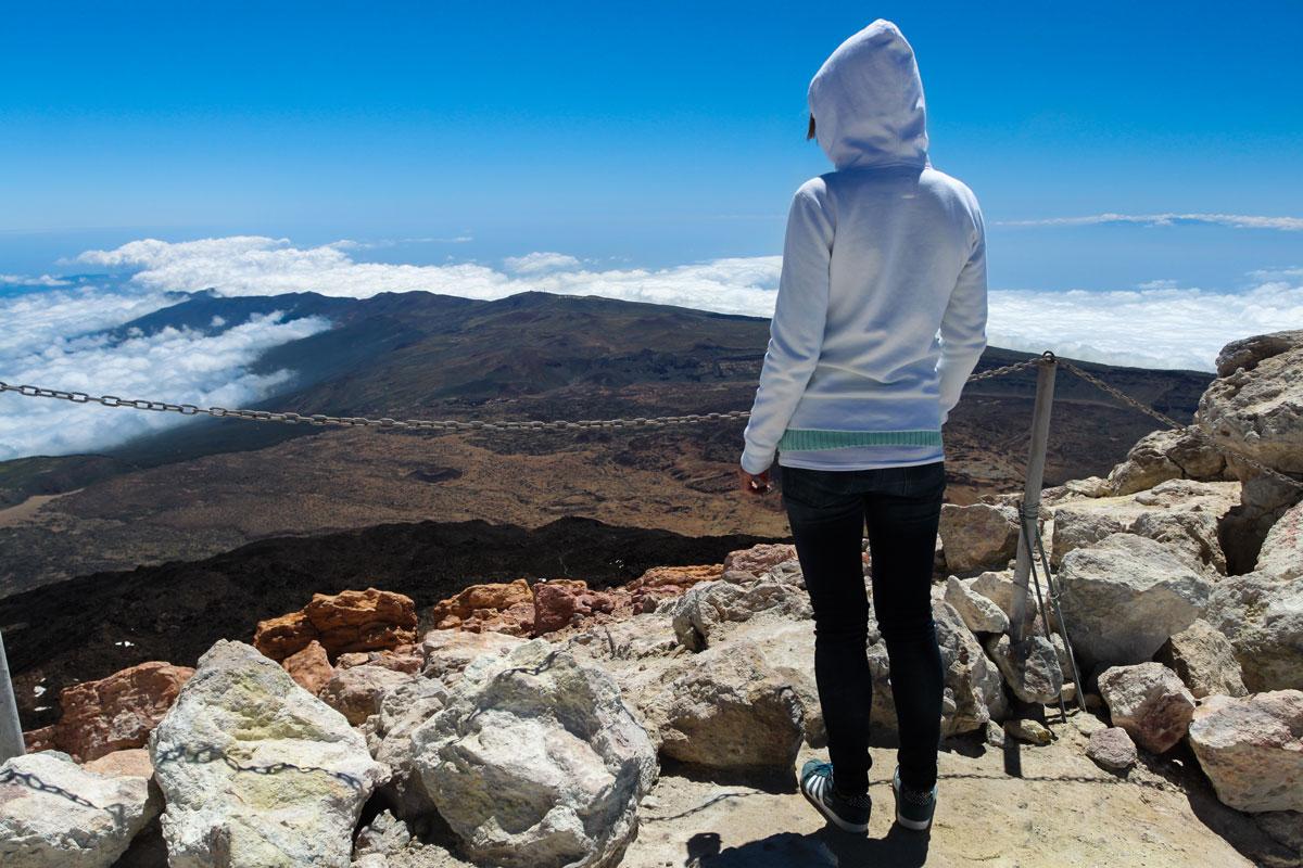 Мы на вершине Тейде на высоте 3718 м.