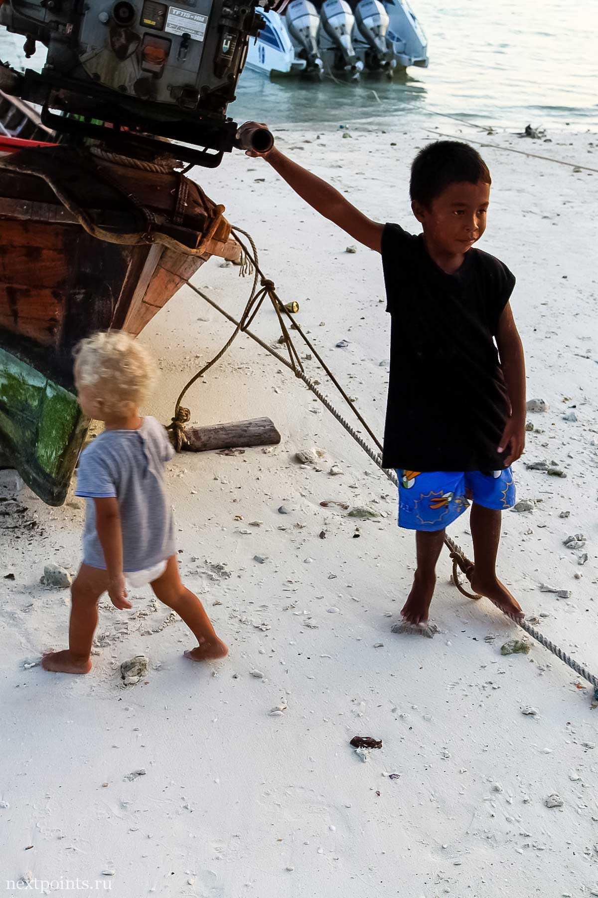 Тайские дети на Ко Липе