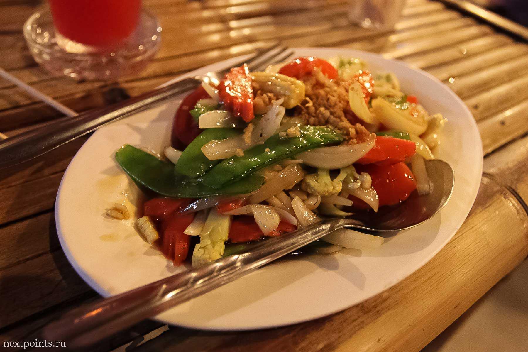 Овощи по-тайски на острове Ко Липе