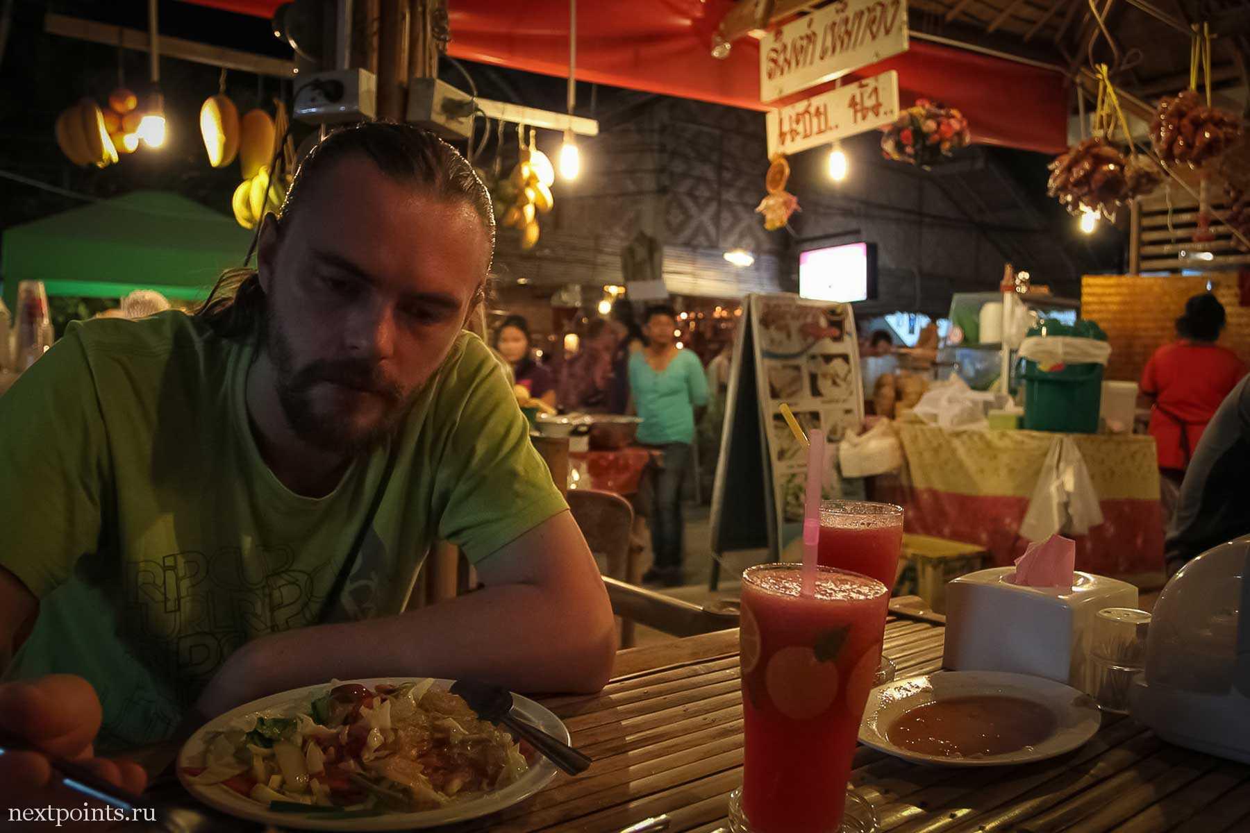 """Наш """"No spicy"""" тайский ужин на Ко Липе"""