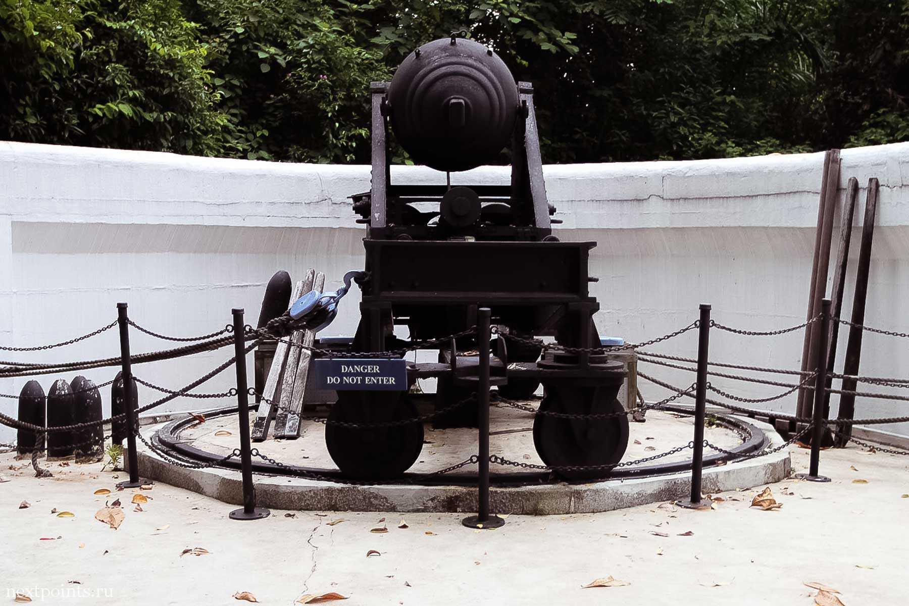 Большая пушка в Форте Силосо