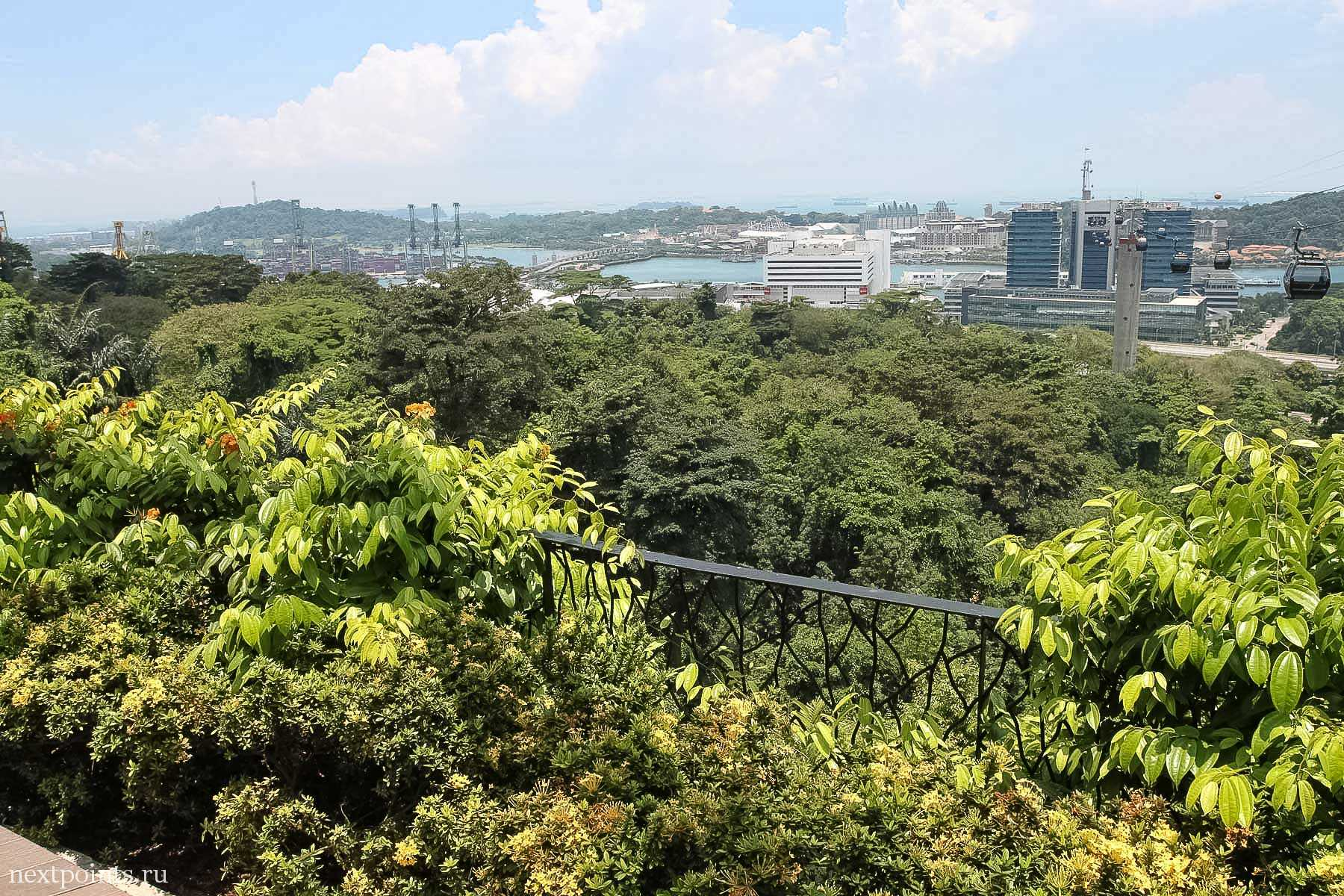 Виды на Сингапур и Сентозу