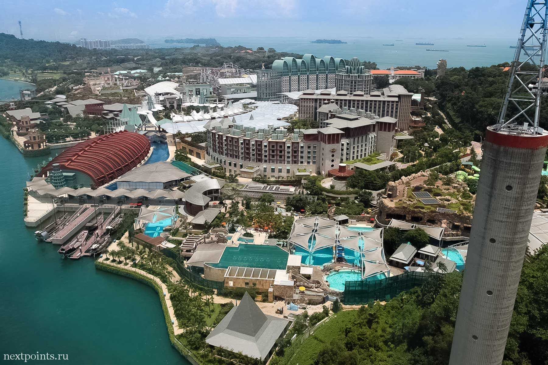 Отельный комплекс на острове Сентоза