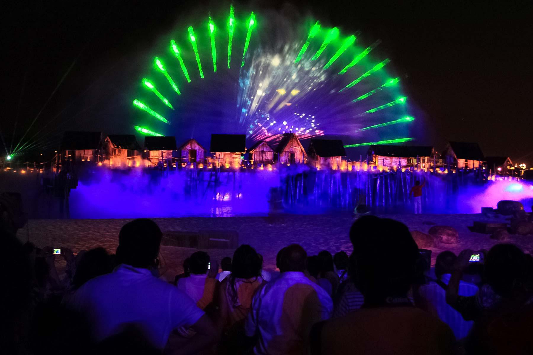 Лазерное шоу Сингапура