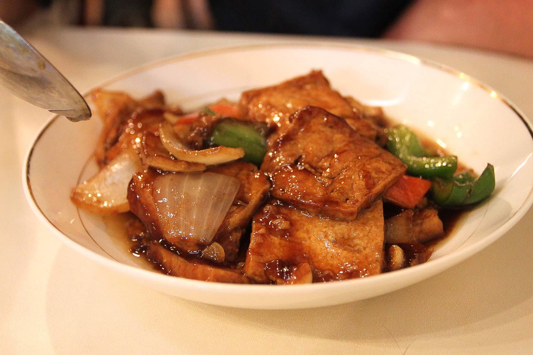 Тофу в китайском ресторане в Сингапуре