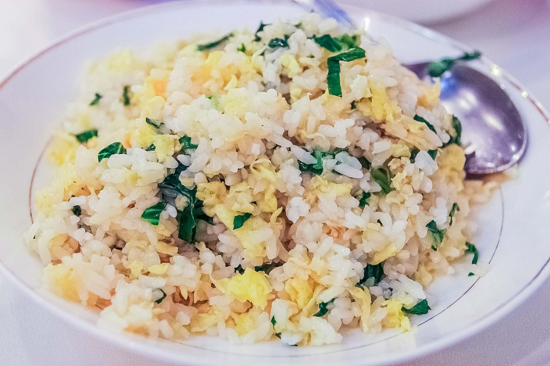 Рис в Сингапуре в китайском ресторане