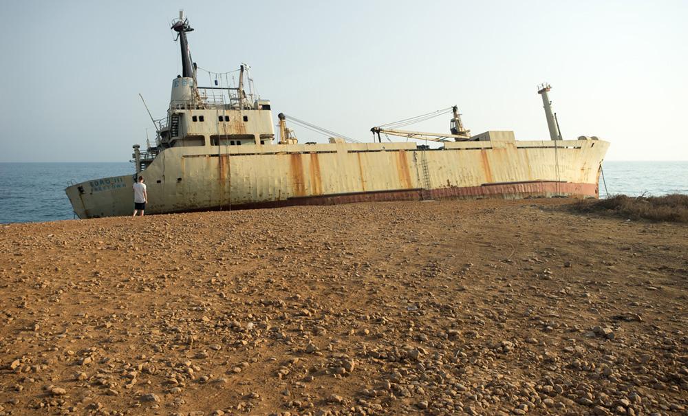 Корабль Edro III проржавел