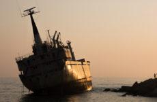 Корабль на мели около Пафоса