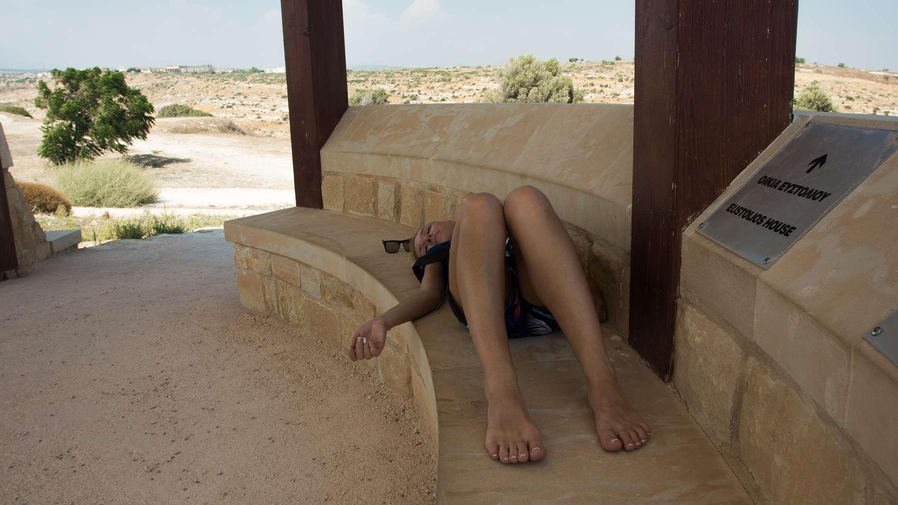Отдыхаем от жарищи в августе в Курионе