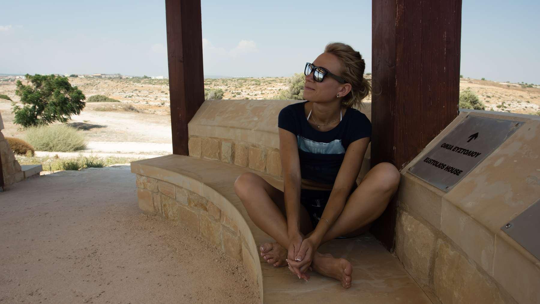 Убежище от жары в Курионе на Кипре
