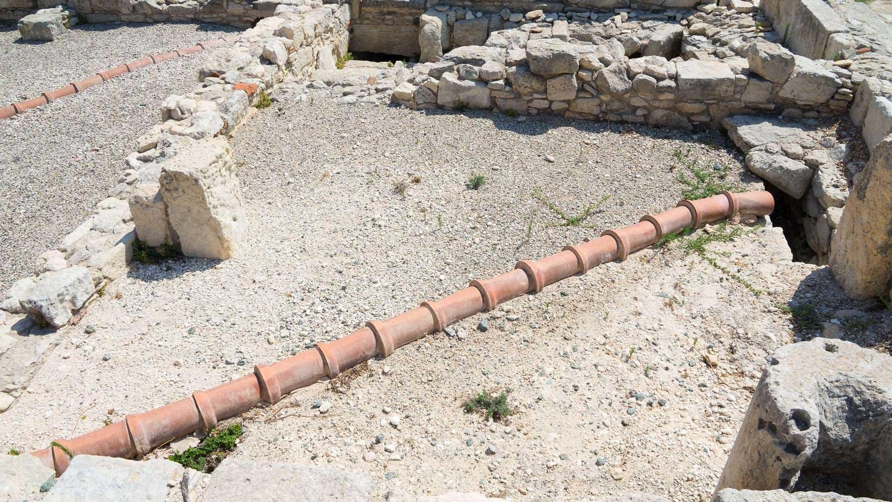 Канализационная система в древнем Кипре