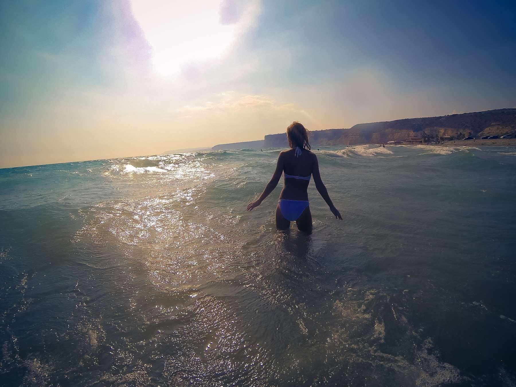 Закат на пляже Курион