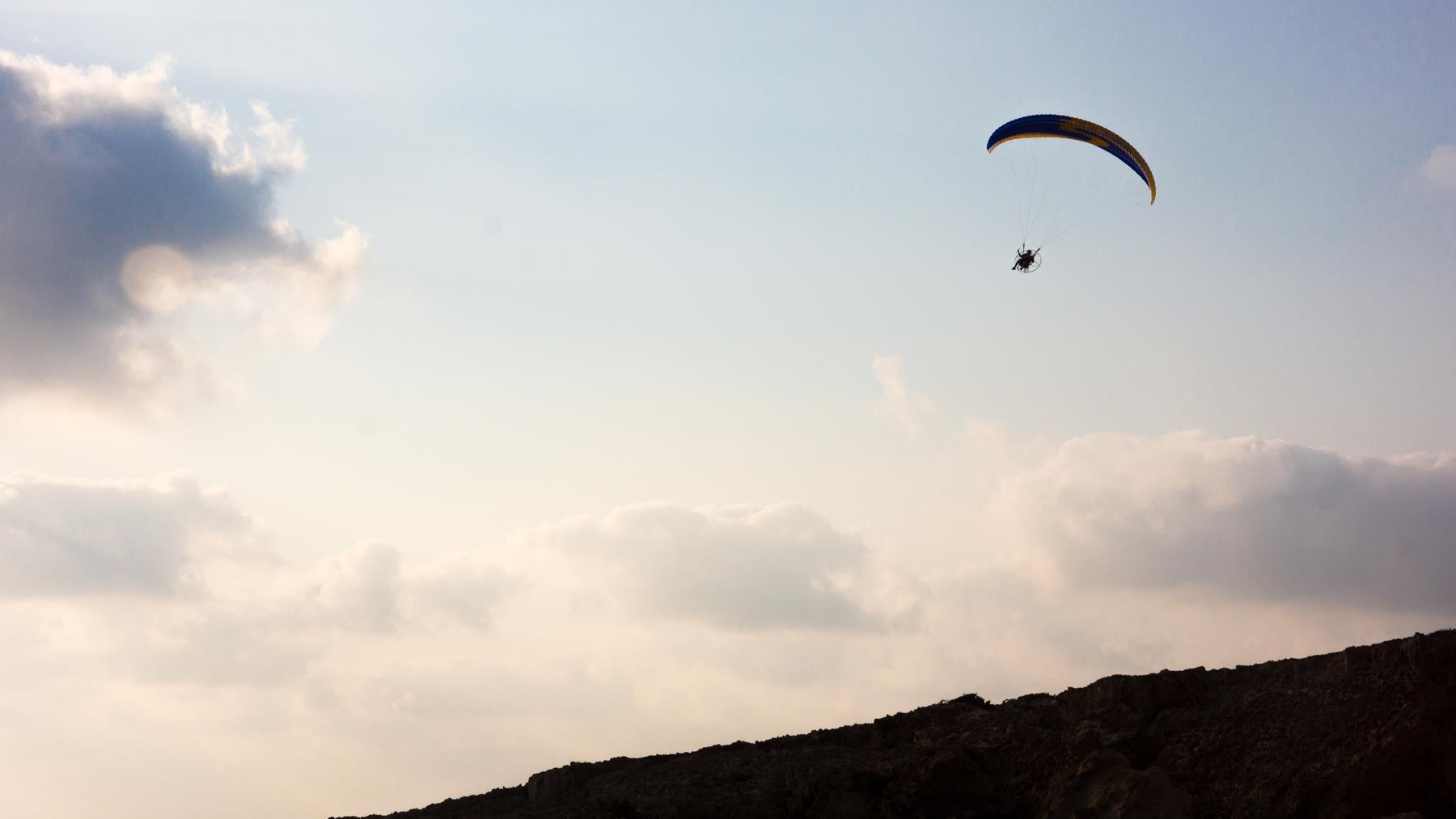 Аэропланерист возвращается на базу