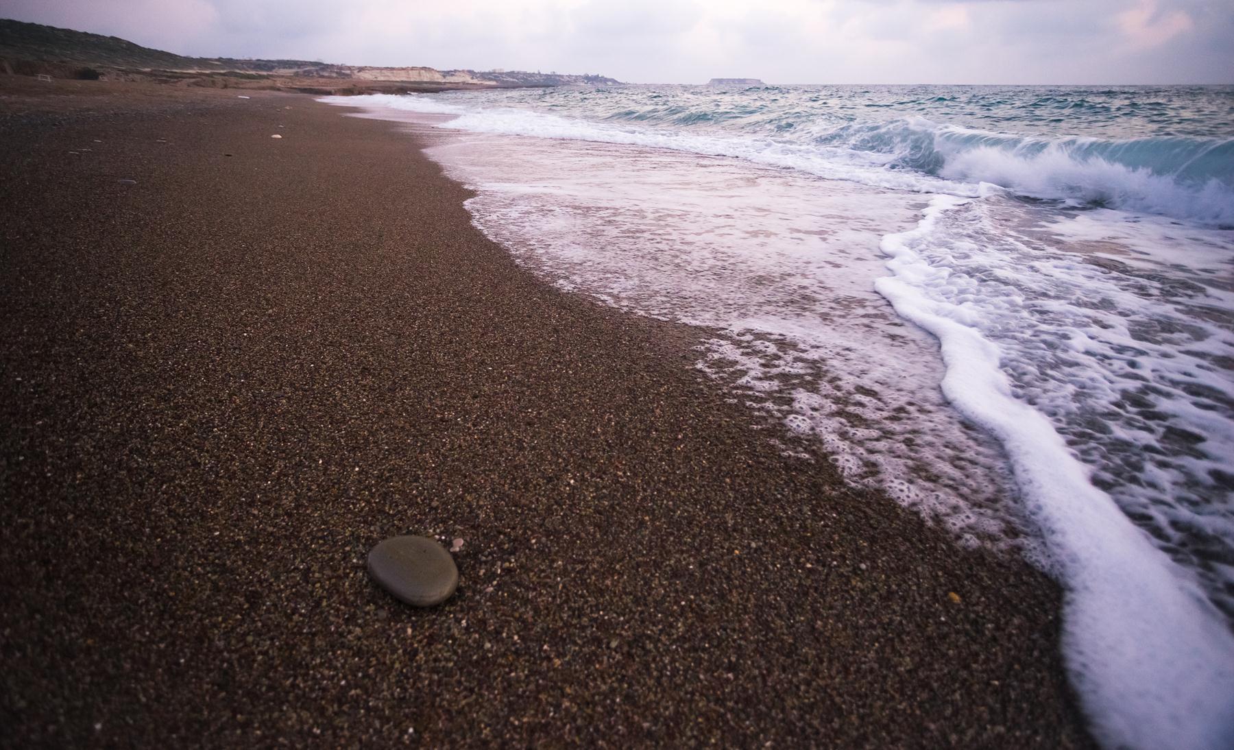 Волна уходит треугольником и тут же собирается новая