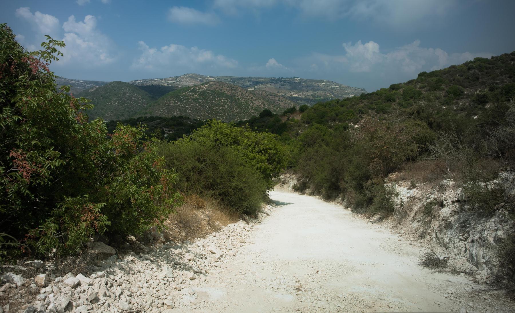 Спускаемся к подножию кипрских склонов и гор