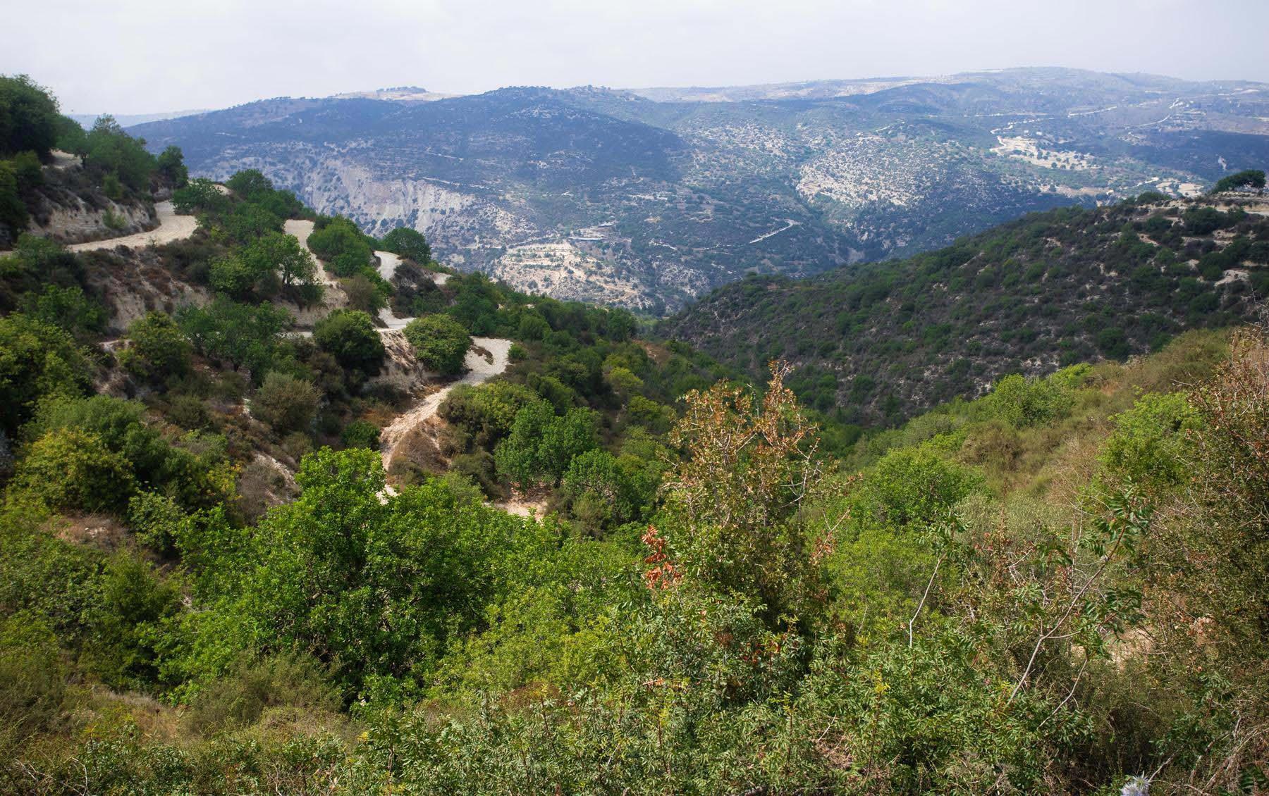 Красивые виды горных пейзажей и тяжелая дорога к купальням Адониса