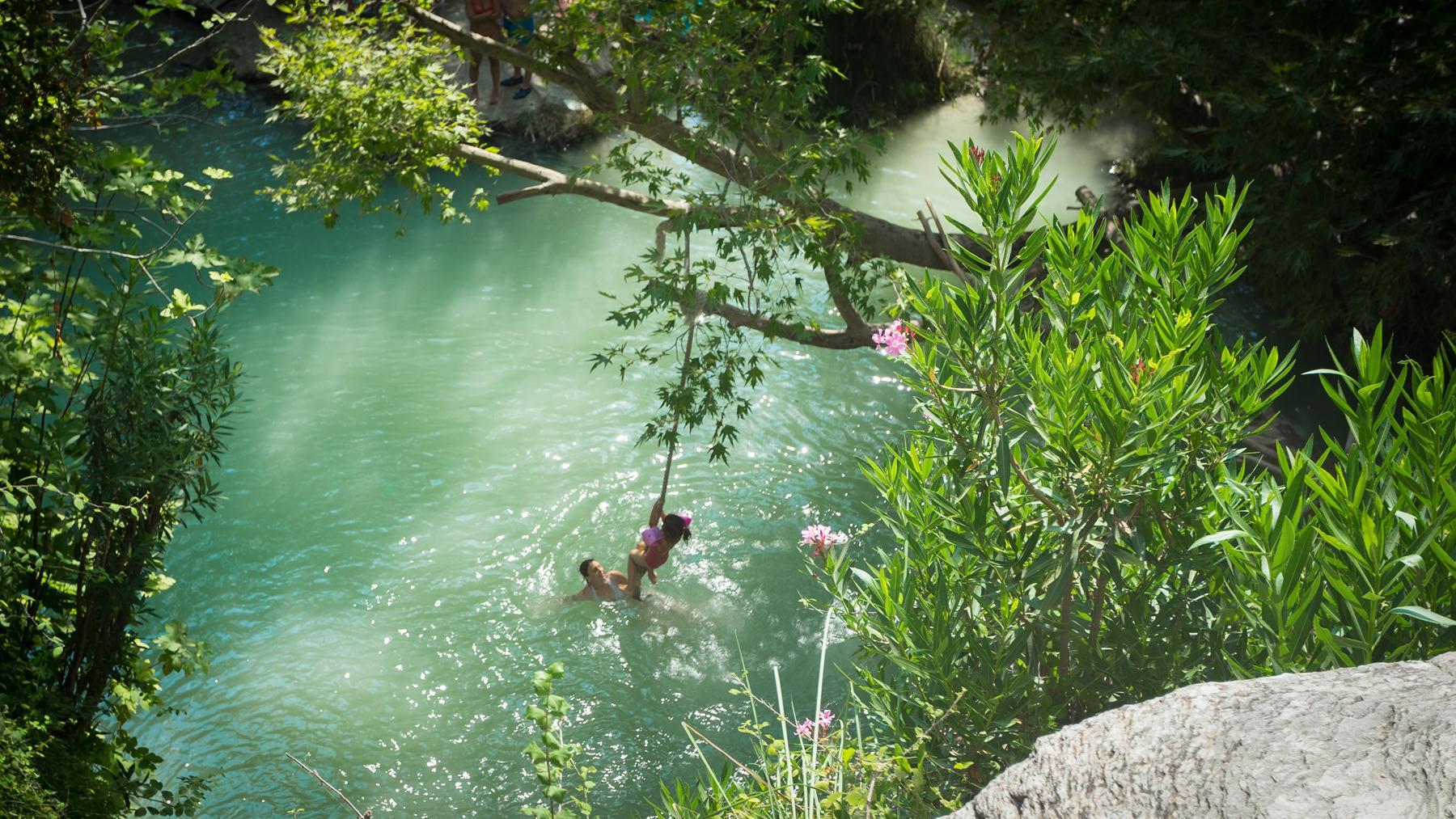 Тарзанка в купальнях Адониса