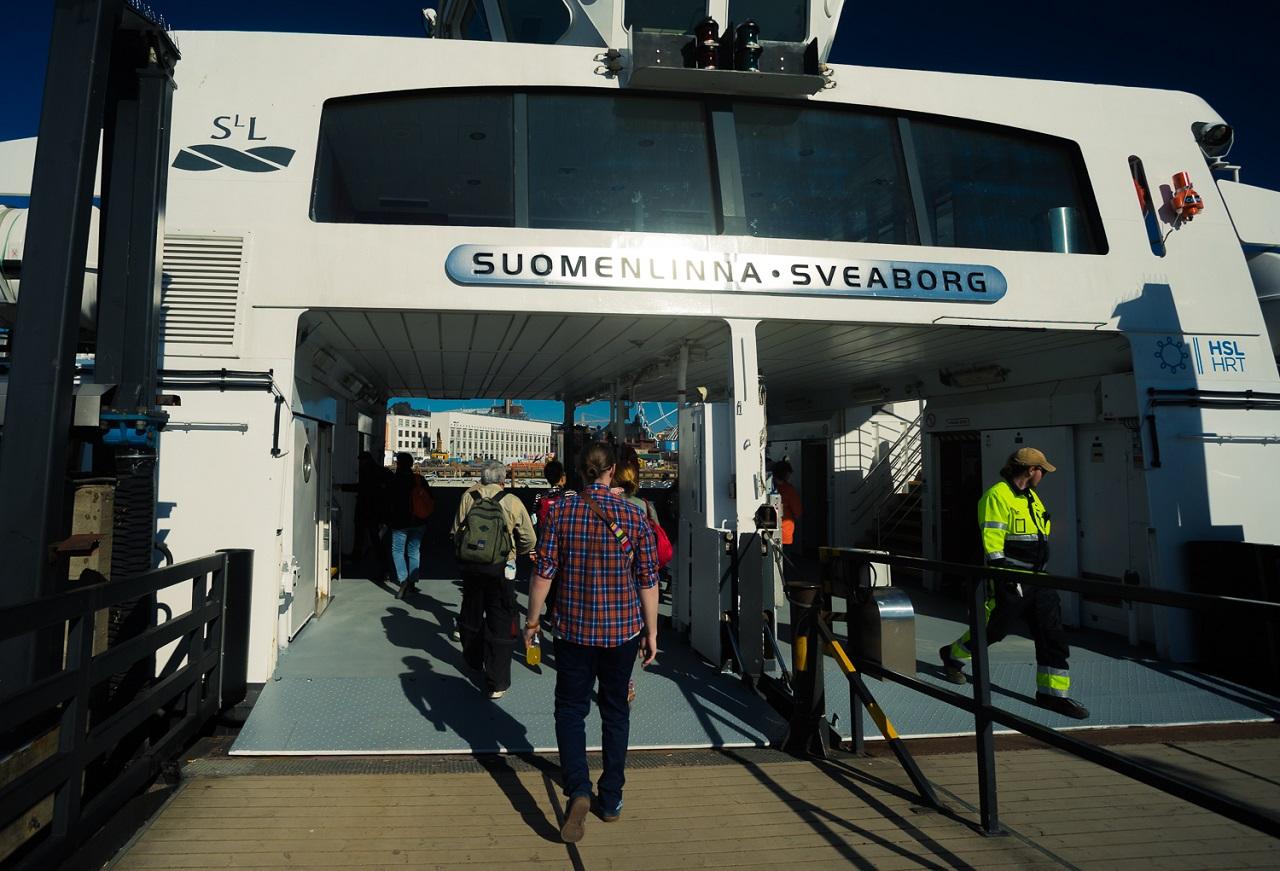 Садимся на корабль HSL до Свеаборга