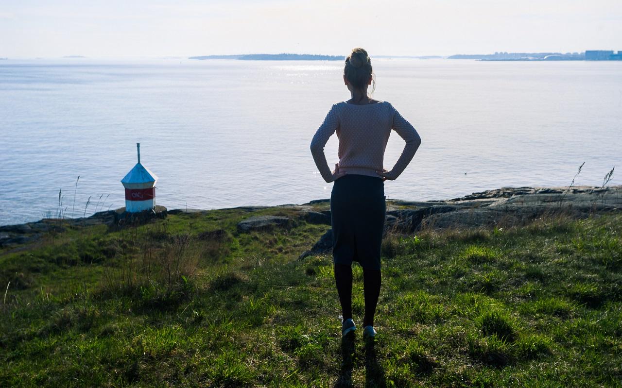 Голубой горизонт с россыпью финских островков