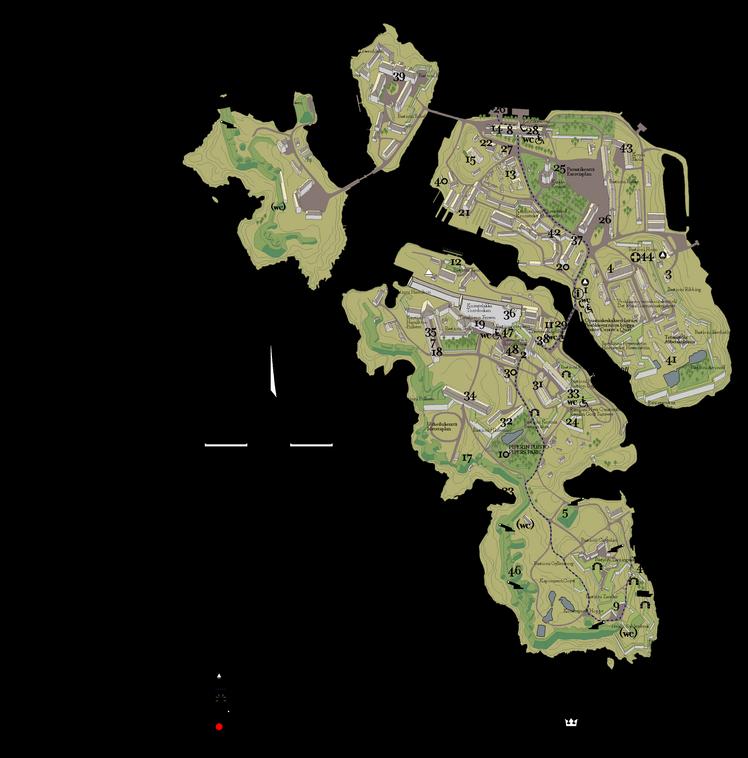 Карта островов Свеаборга