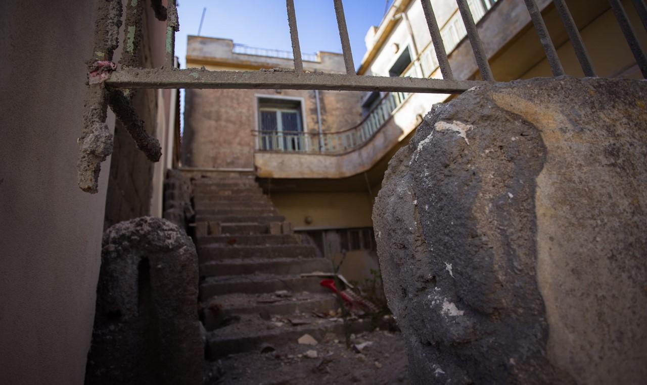 Разрушенное здание в Хавриата (Chavriata)