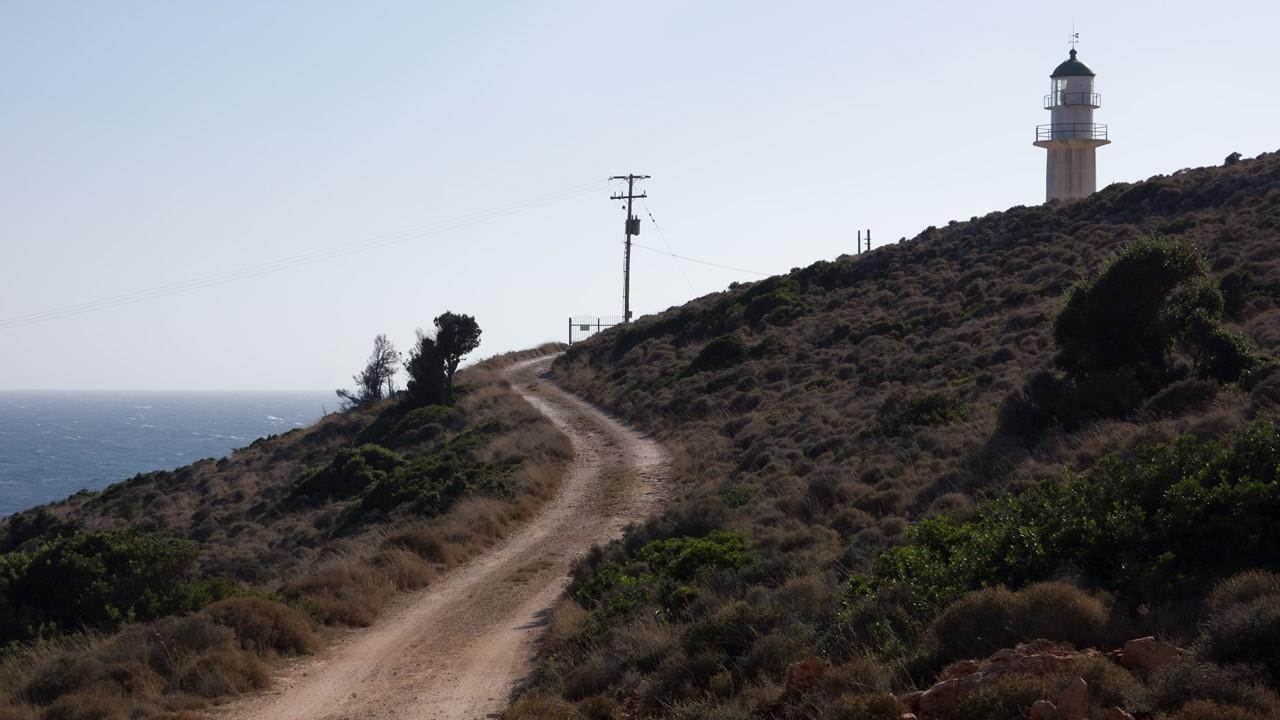 Маяк Греции Герогомпос (Gerogompos) на Кефалонии