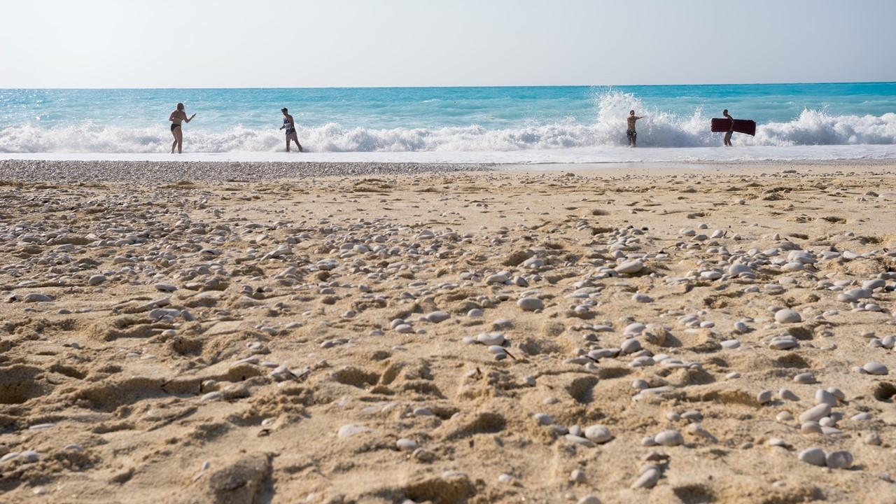 Селфи с волнами на Миртос (Myrtos)