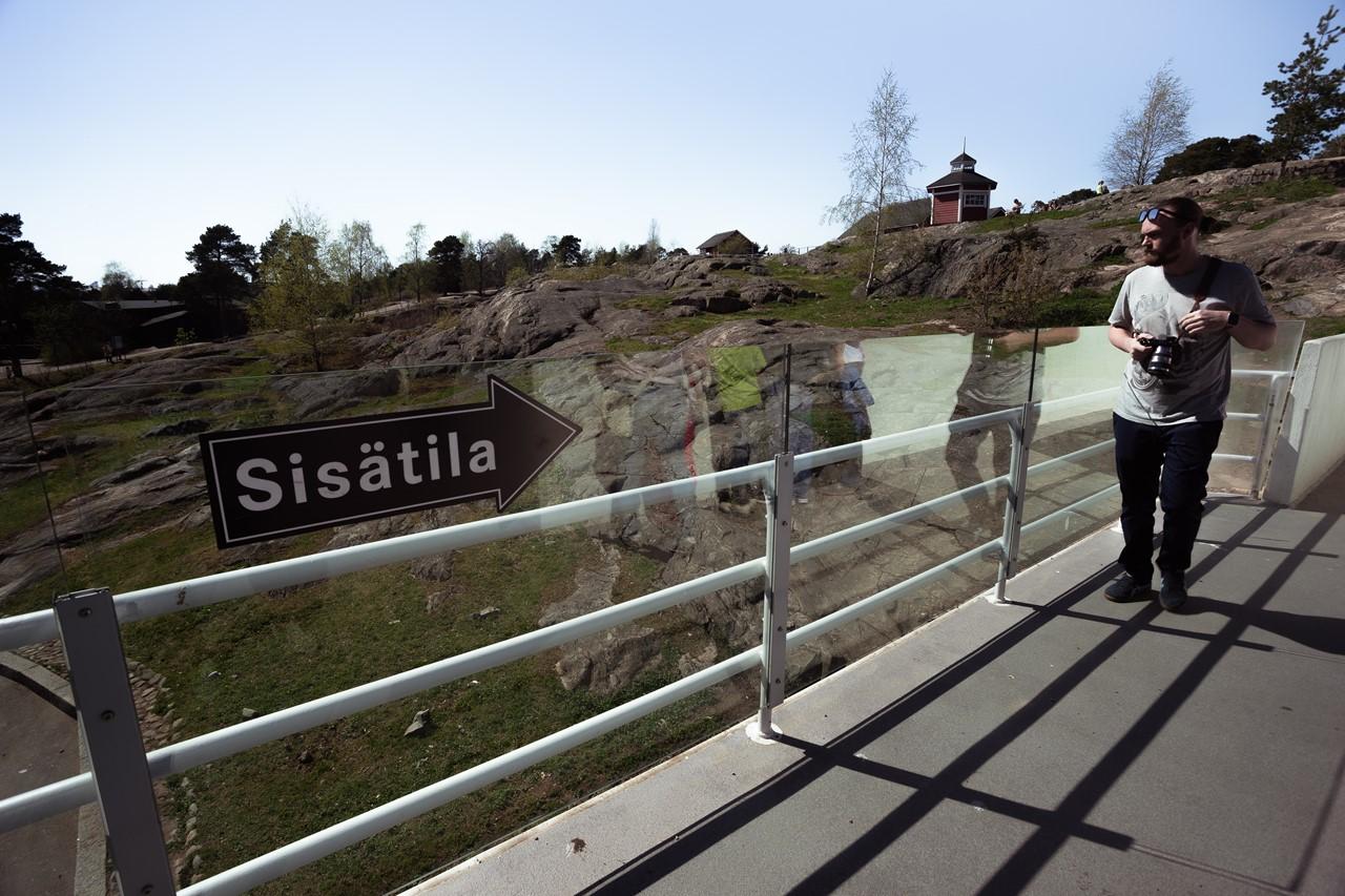 Красивая местность зоопарка Хельсинки