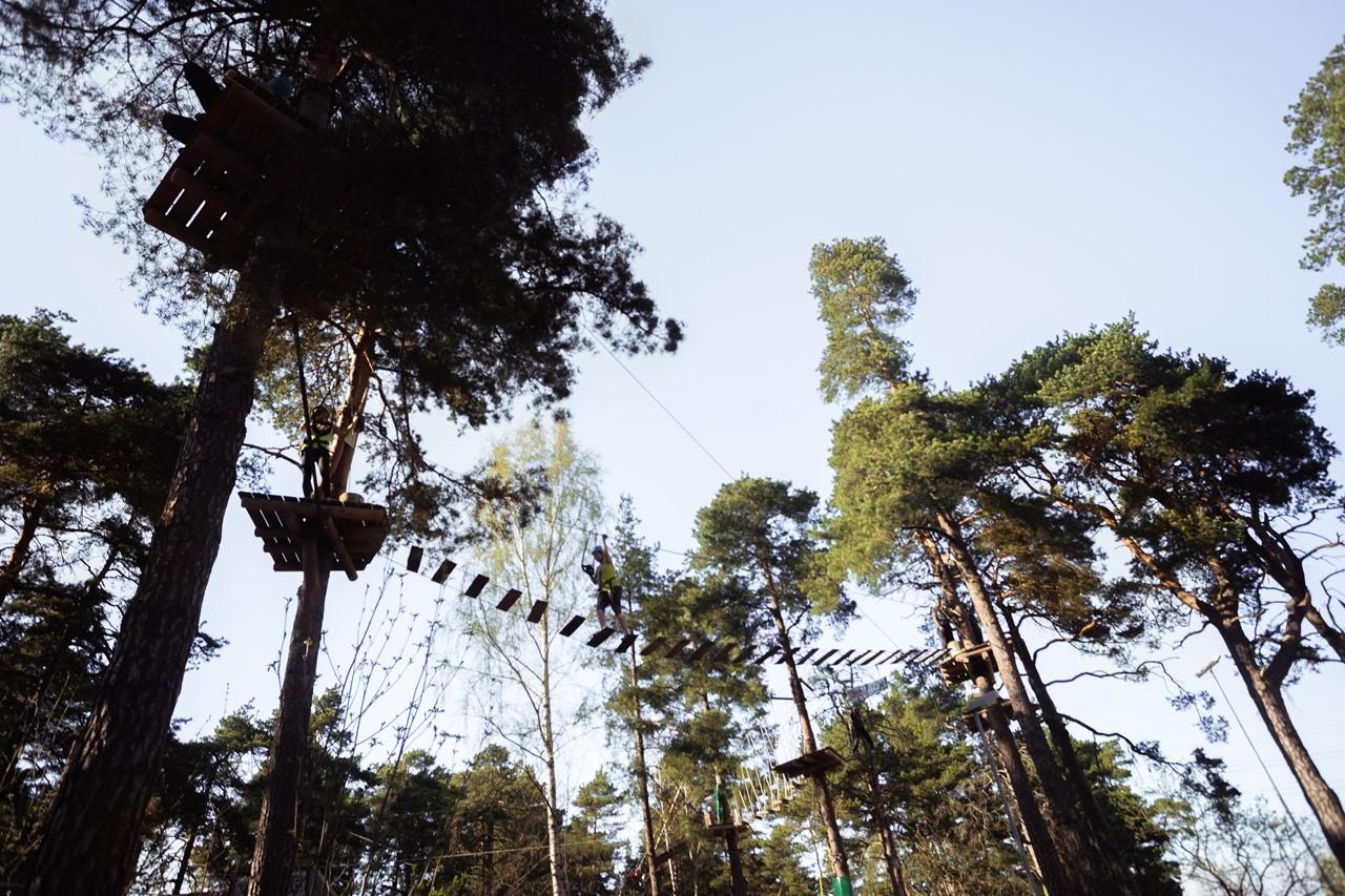 Веревочный парк на острове Мустиккамаа