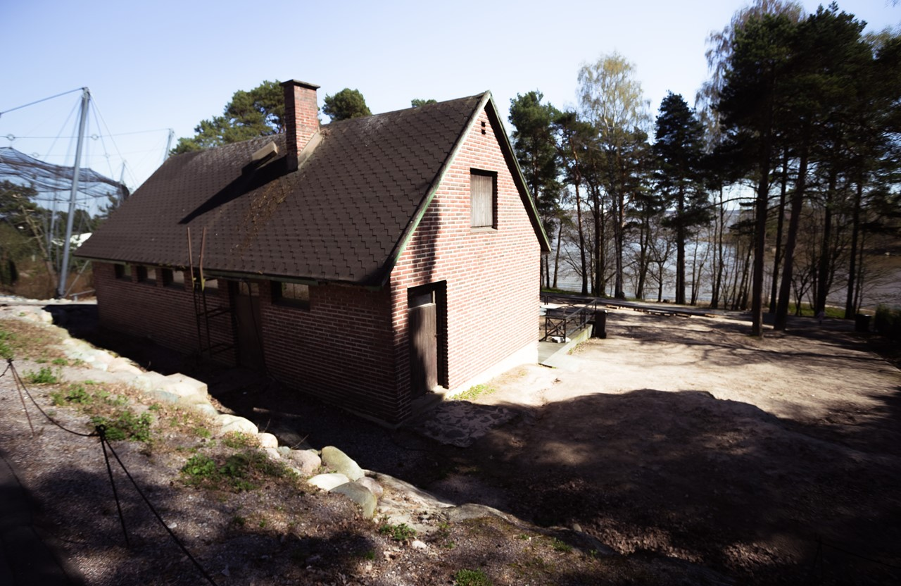 Технический домик в зоопарке Хельсинки