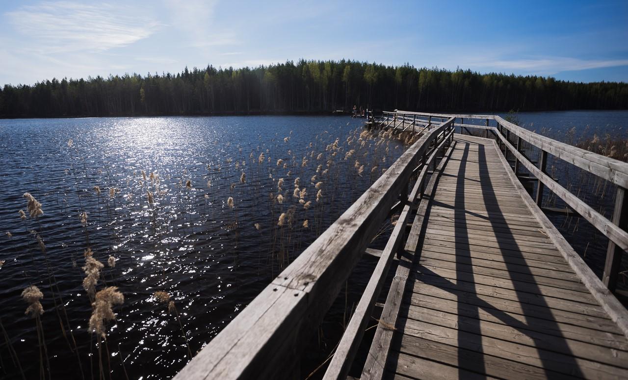 Причал на озере в парке Реповеси (Repovesi)