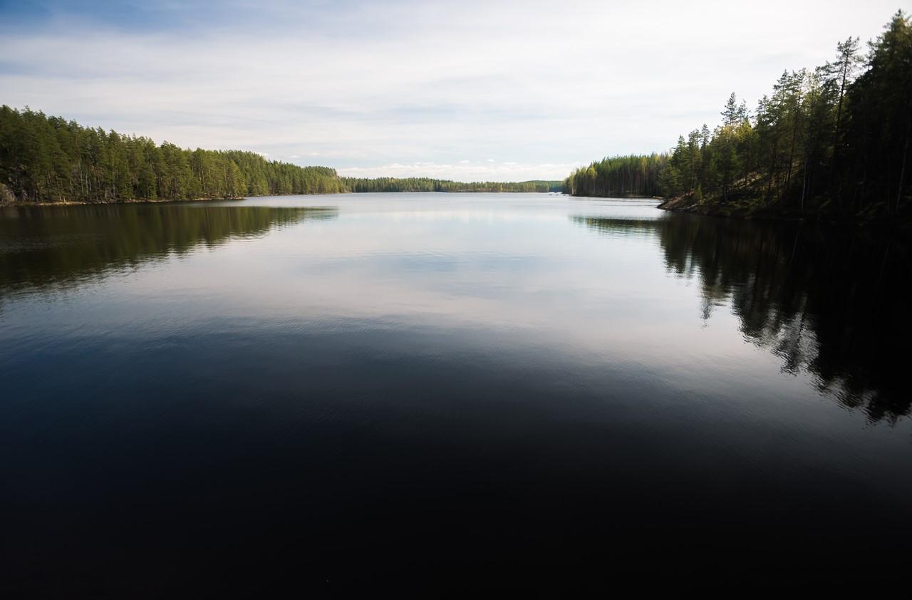 Озеро Капиавеси (Kapiavesi) в Финляндии