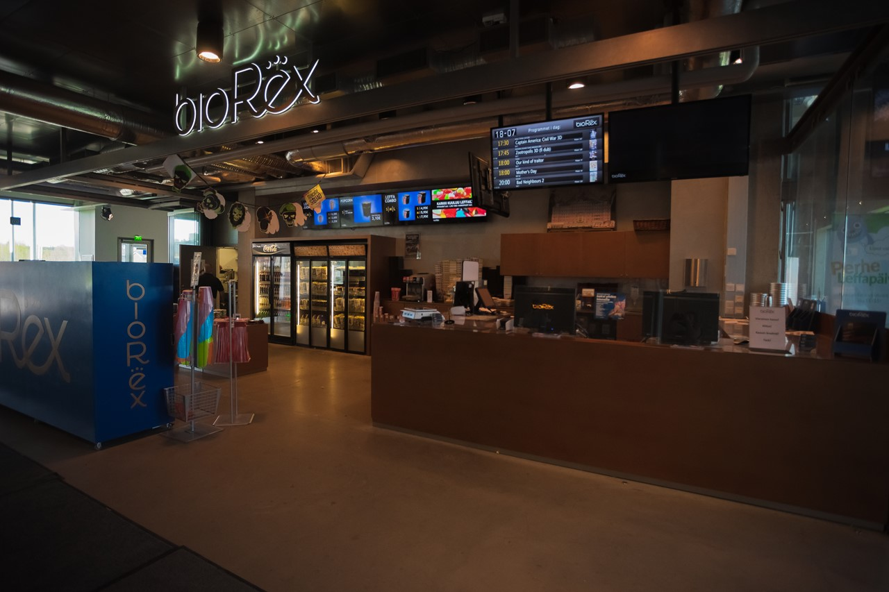 Кинотеатр Bio Rex и кафе в Порвоо