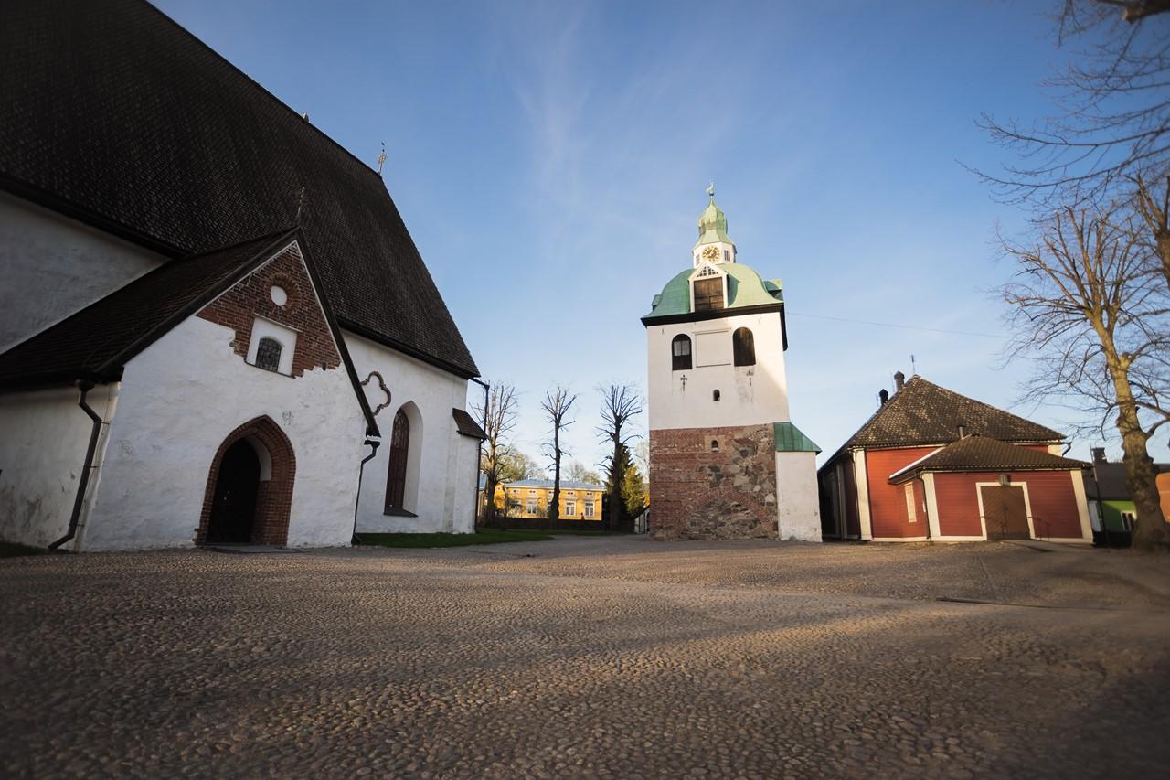 Большой Кафедральный собор города Порвоо в Финляндии