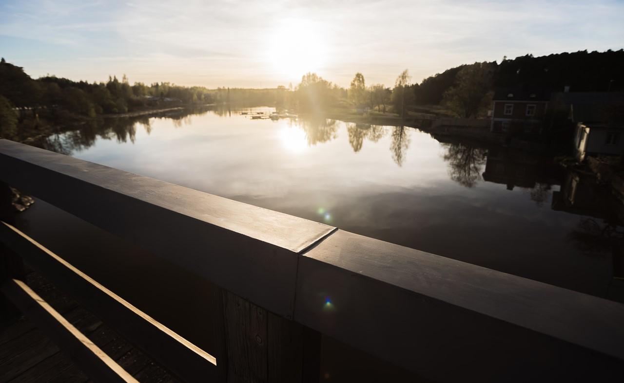 Волшебный закат на реке Porvoonjoki