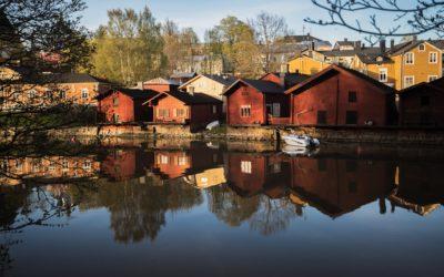 Уютный городок Порвоо в Финляндии