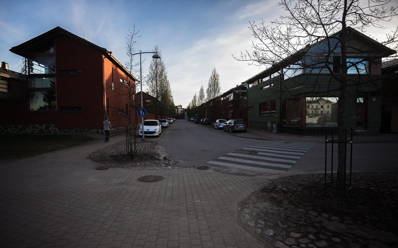 Жилая улочка в Порвоо
