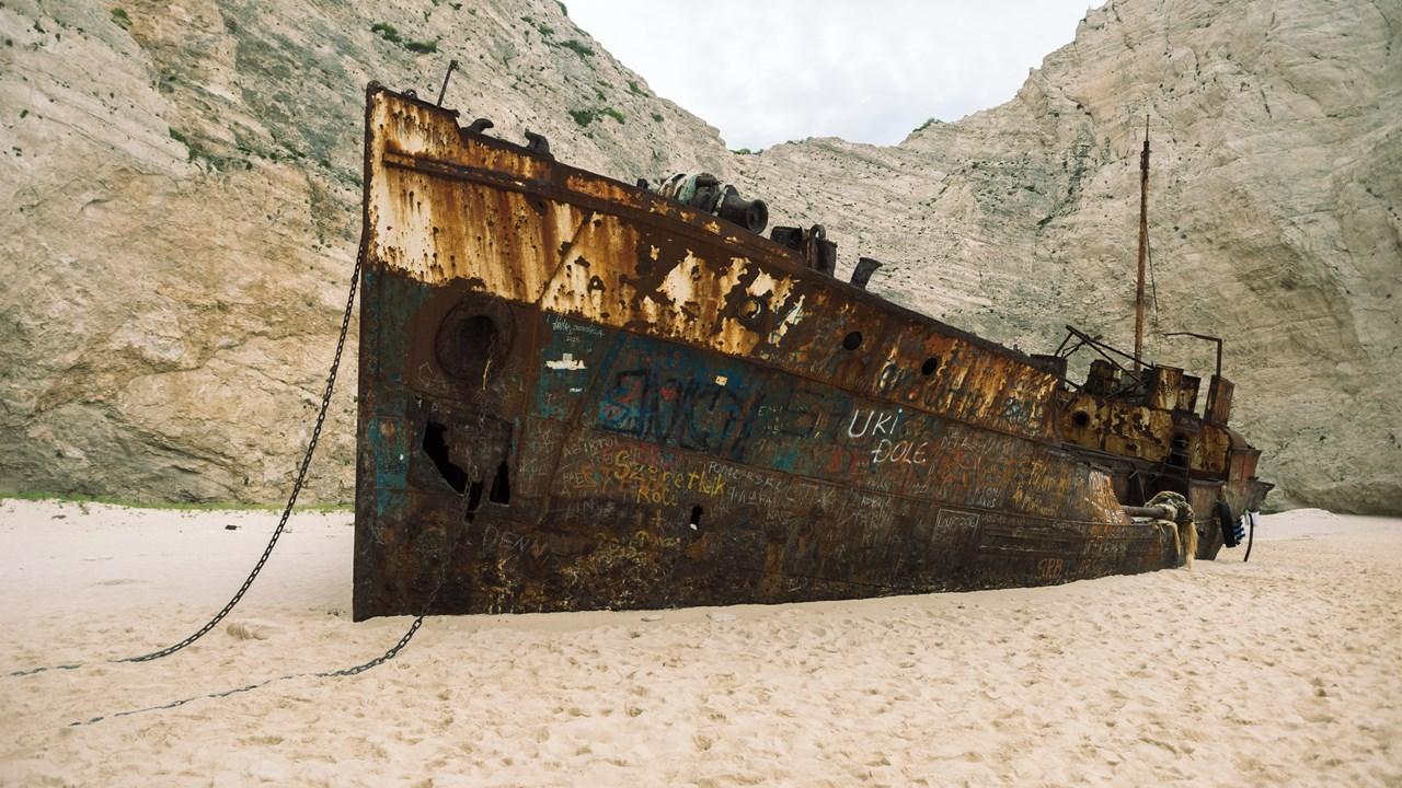Вид пиратского корабля сбоку
